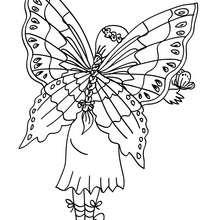 FEE Kawaii à colorier en ligne - Coloriage - Coloriage GRATUIT - Coloriage PERSONNAGE IMAGINAIRE - Coloriage FEE