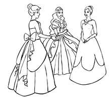 Coloriage PRINCESSES - Coloriage - Coloriage PRINCESSE - Coloriage ROBES PRINCESSES