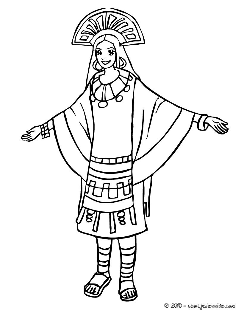 free inca coloring pages - photo#32