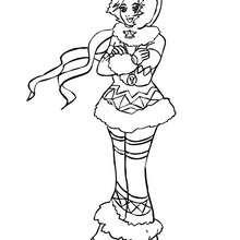 Coloriage Princesse INUITE - Coloriage - Coloriage PRINCESSE - Coloriage PRINCESSES A IMPRIMER