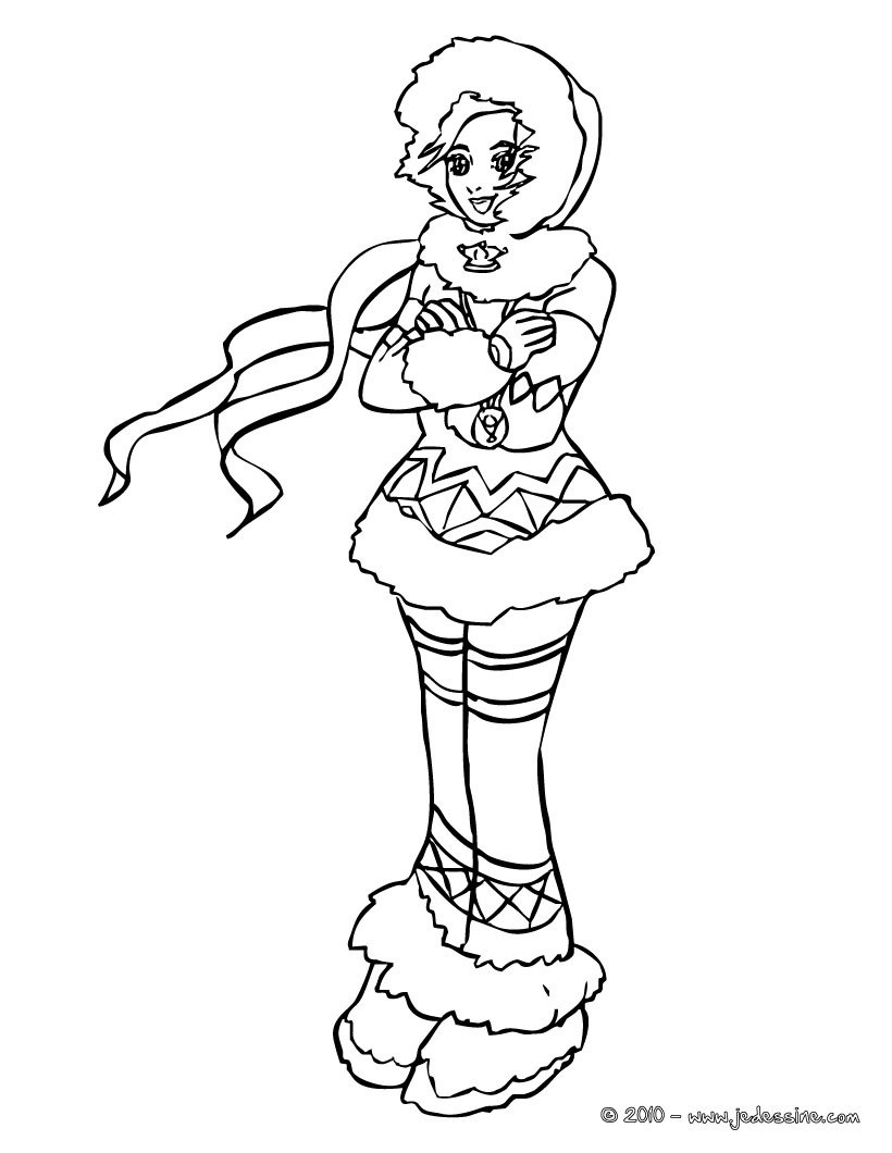 Coloriages coloriage princesse inuite - Coloriage hawaienne ...