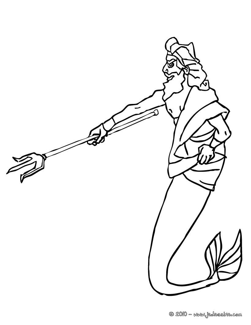 Coloriages roi triton à colorier - fr.hellokids.com