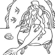 Coloriage SIRENE MANGA