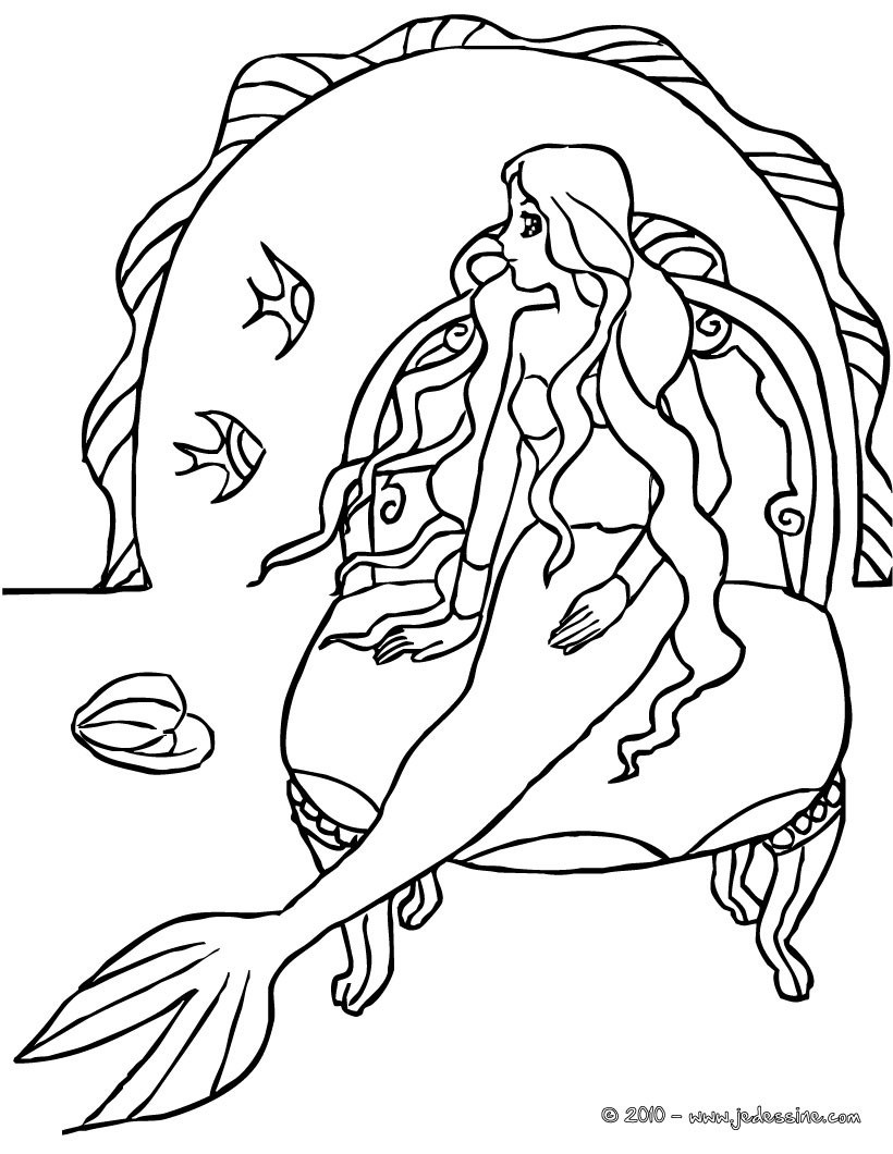 Coloriages coloriage sirene manga - Coloriages sirenes ...