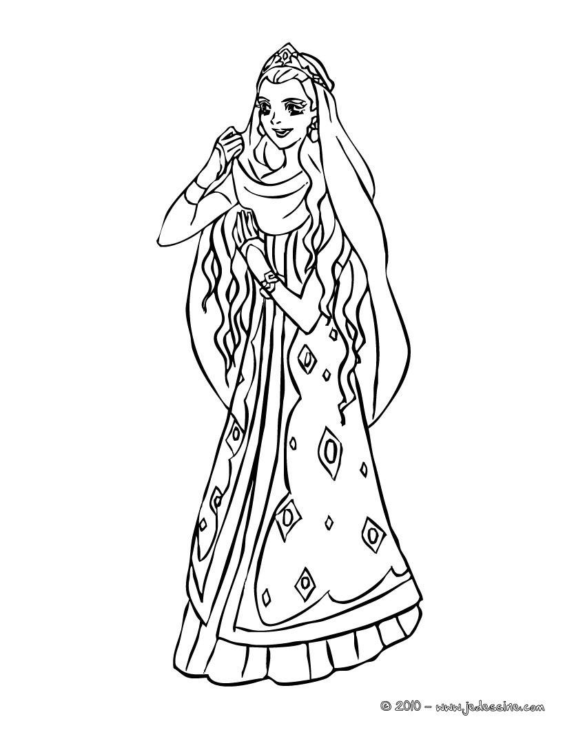 princesse colorier gratuitement princesse marocaine colorier coloriage coloriage princesse coloriage princesses marocaines