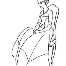 Coloriage en ligne Princesse - Coloriage - Coloriage PRINCESSE - Coloriage ROBES PRINCESSES