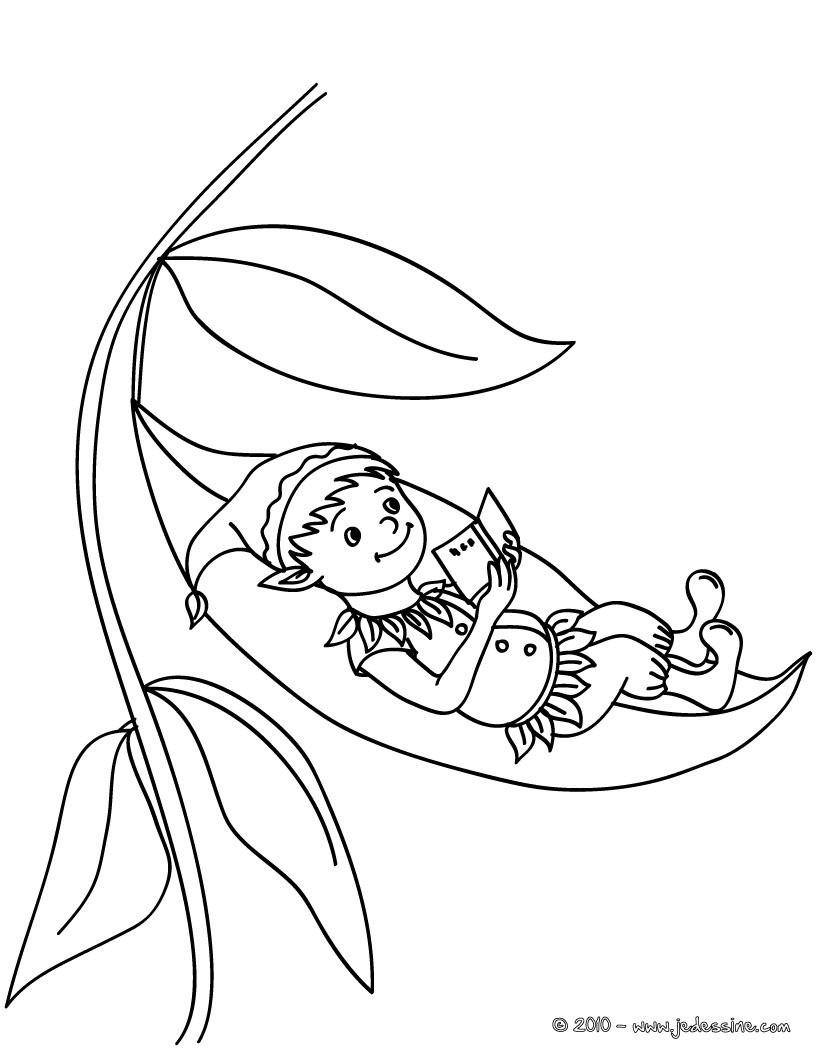 un elfe dormant colorier elfe colorier et imprimer coloriage coloriage gratuit coloriage personnage imaginaire - Coloriages Gratuit