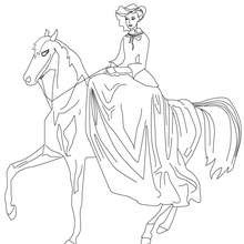 Coloriage Princesse Cheval Imprimer.Coloriages Princesses Fr Hellokids Com
