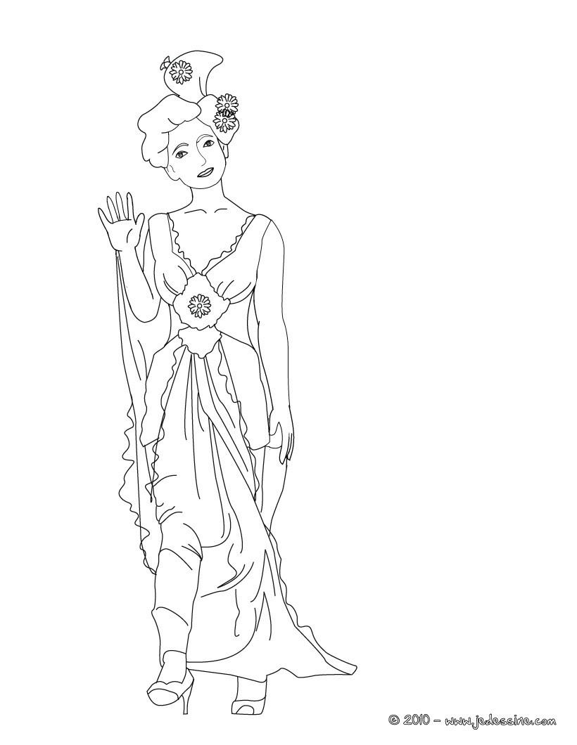 Coloriage : Cloriage gratuit d'une Princesse