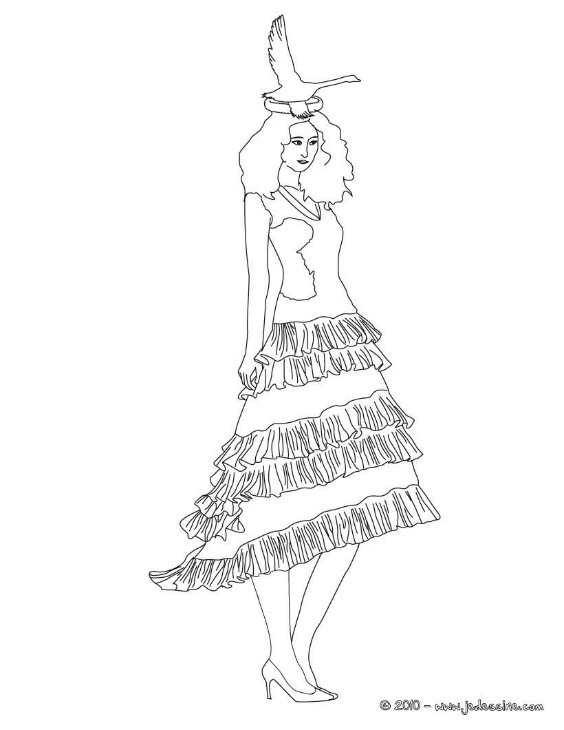 Coloriage Robe De Princesse A Imprimer.Coloriages Coloriage D Une Robe De Princesse Fr Hellokids Com