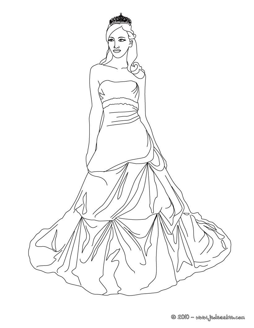 coloriage dune princesse et sa couronne