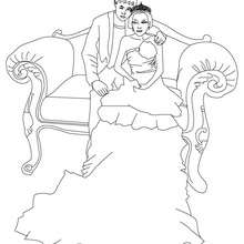 Coloriage d'un PRINCE et PRINCESSE - Coloriage - Coloriage PRINCESSE - Coloriage PRINCES ET PRINCESSES