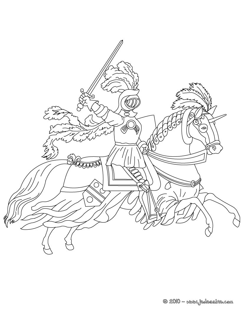 fantasy knights princesses coloring pages - photo#13