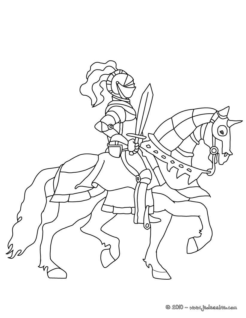 Coloriage En Ligne Chevalier.Coloriages Dragons Et Chevaliers Fr Hellokids Com
