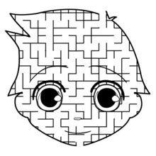 Le visage de Téo - Jeux - Jeux de Labyrinthes - Les labyrinthes EXCLUSIFS de Jedessine