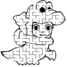 Téo se déguise - Jeux - Jeux de Labyrinthes - Les labyrinthes EXCLUSIFS de Jedessine