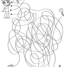 La clé de Mat - Jeux - Jeux de Labyrinthes - Les labyrinthes EXCLUSIFS de Jedessine