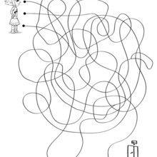 Ana cherche la sortie - Jeux - Jeux de Labyrinthes - Les labyrinthes EXCLUSIFS de Jedessine