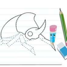 Dessiner un scarabée - Dessin - Apprendre à dessiner - Cours animés de dessin