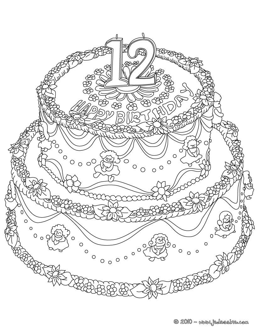 15 Coloriage Gateau Anniversaire 2 Ans Des Milliers De Coloriage