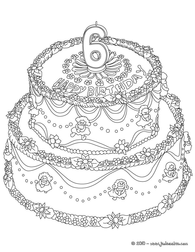 Coloriage Gateau Cake.Coloriages Coloriage 6 Ans Fr Hellokids Com