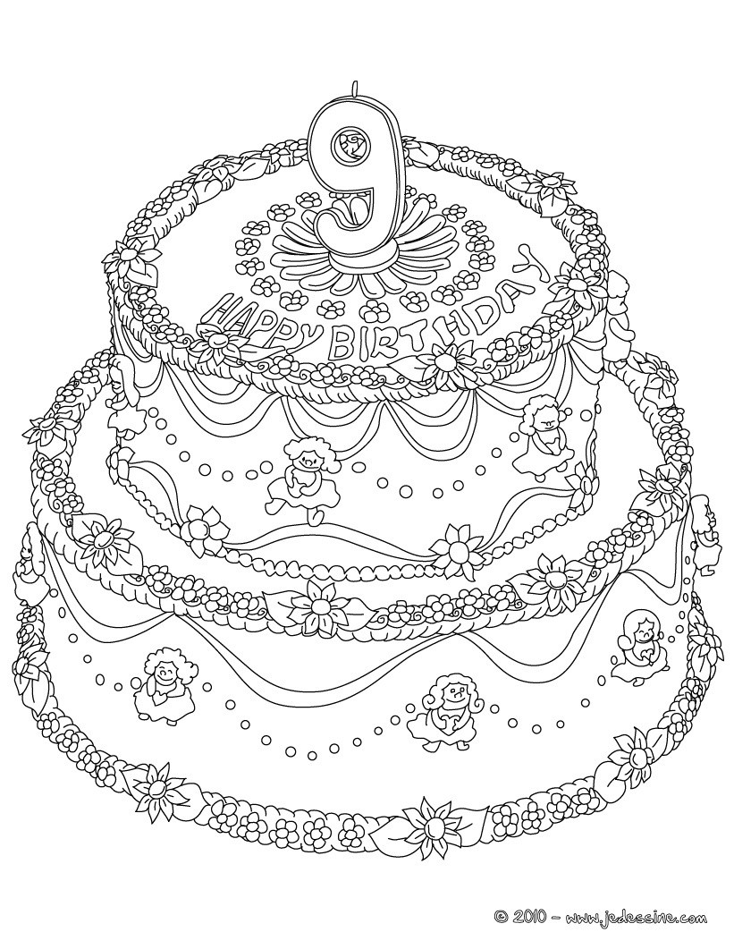 Colouring Pages 8 Year Old : Coloriages coloriage ans fr hellokids