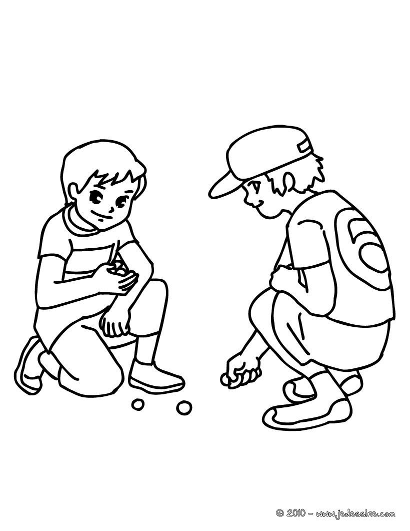 coloriages coloriage du jeu de billes fr hellokids com