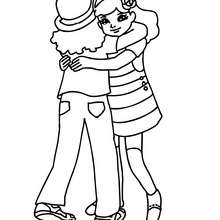Coloriage de deux ELEVES - Coloriage - Coloriage GRATUIT - Coloriage RENTREE SCOLAIRE - Coloriage COUR DE RECREATION