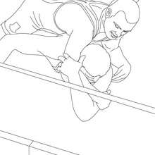 Catcheurs sur le ring - Coloriage - Coloriages de CATCH