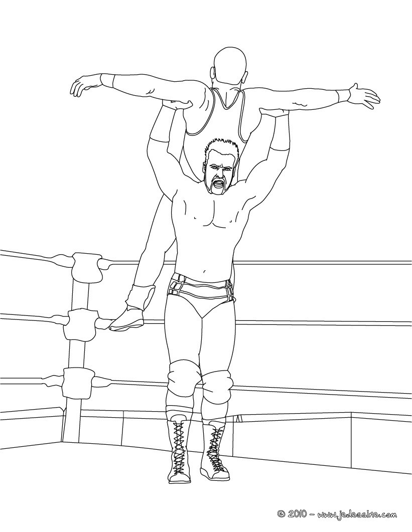 Coloriages sheamus - Coloriage wwe ...