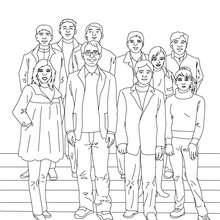 Coloriage PHOTO de CLASSE - Coloriage - Coloriage GRATUIT - Coloriage RENTREE SCOLAIRE - Coloriage ECOLE