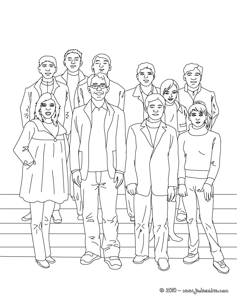 Coloriage PHOTO de CLASSE