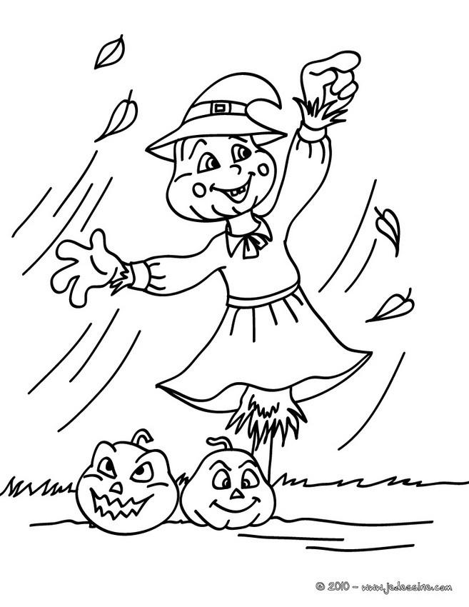 Coloriage d'Halloween : JACK O'LANTERN à dessiner