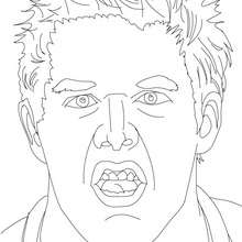 JACK SWAGGER, portrait - Coloriage - Coloriages de CATCH