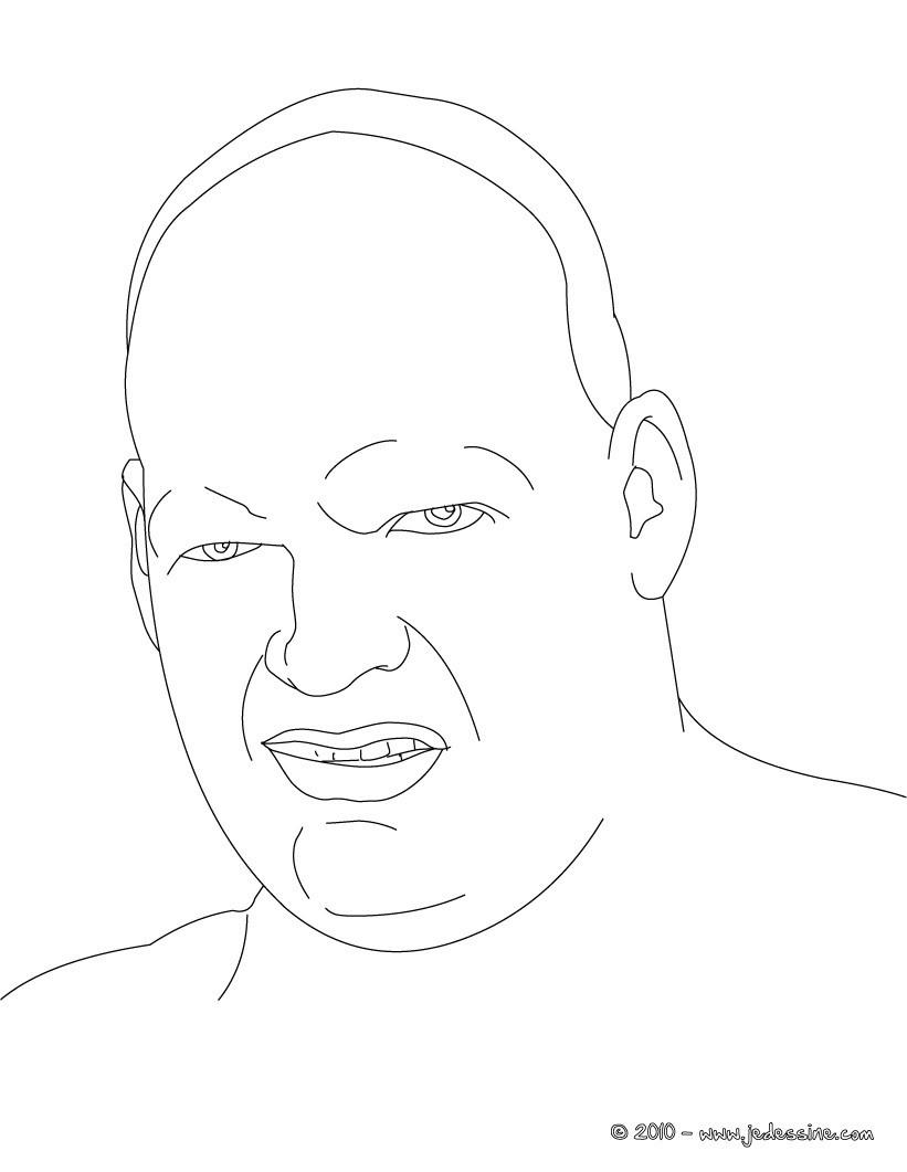 Coloriage : le visage de KANE