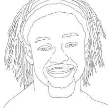 KOFI KINGSTON, portrait - Coloriage - Coloriages de CATCH