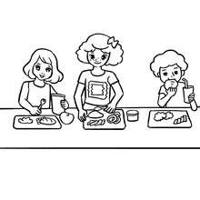Coloriage CANTINE - Coloriage - Coloriage GRATUIT - Coloriage RENTREE SCOLAIRE - Coloriage ECOLE