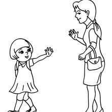 Coloriage MAMAN D'ELEVE - Coloriage - Coloriage GRATUIT - Coloriage RENTREE SCOLAIRE - Coloriage ECOLE