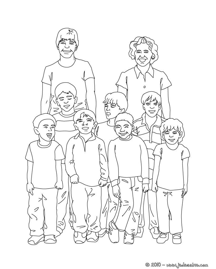 Coloriages photo de classe colorier - Dessin classe ...