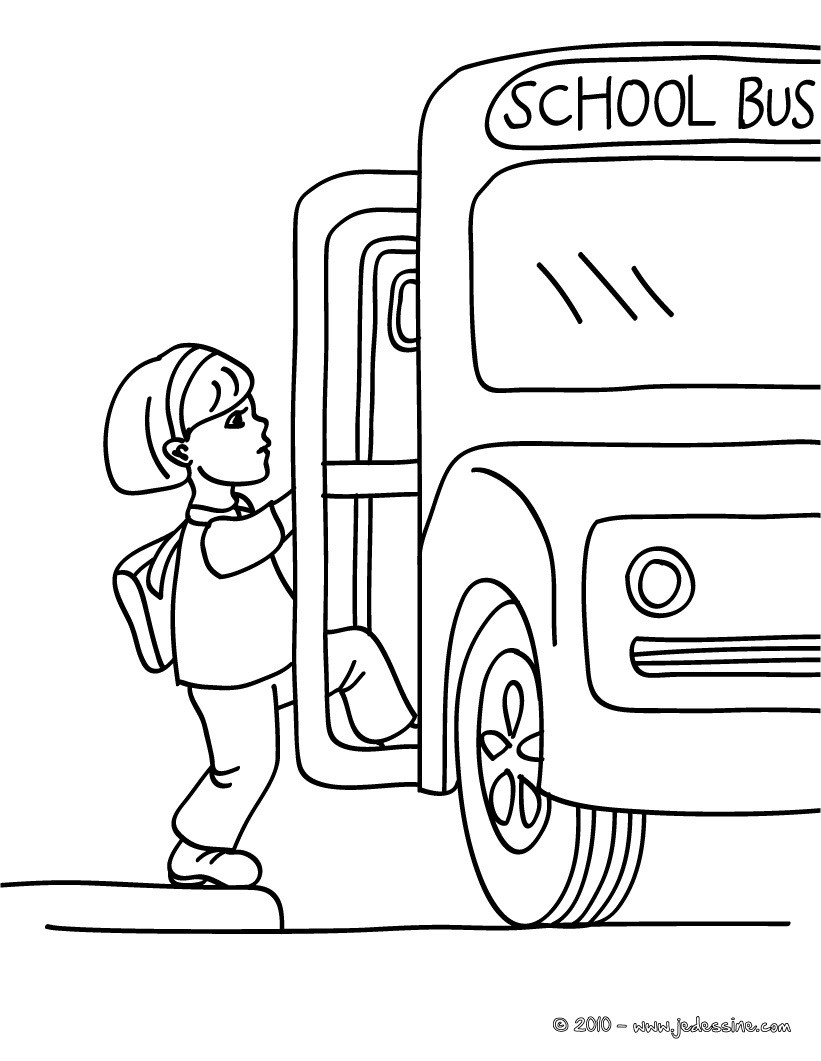Coloriages coloriage bus scolaire - Dessin d un bus ...