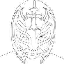 REY MYSTERIO - Coloriage - Coloriages de CATCH