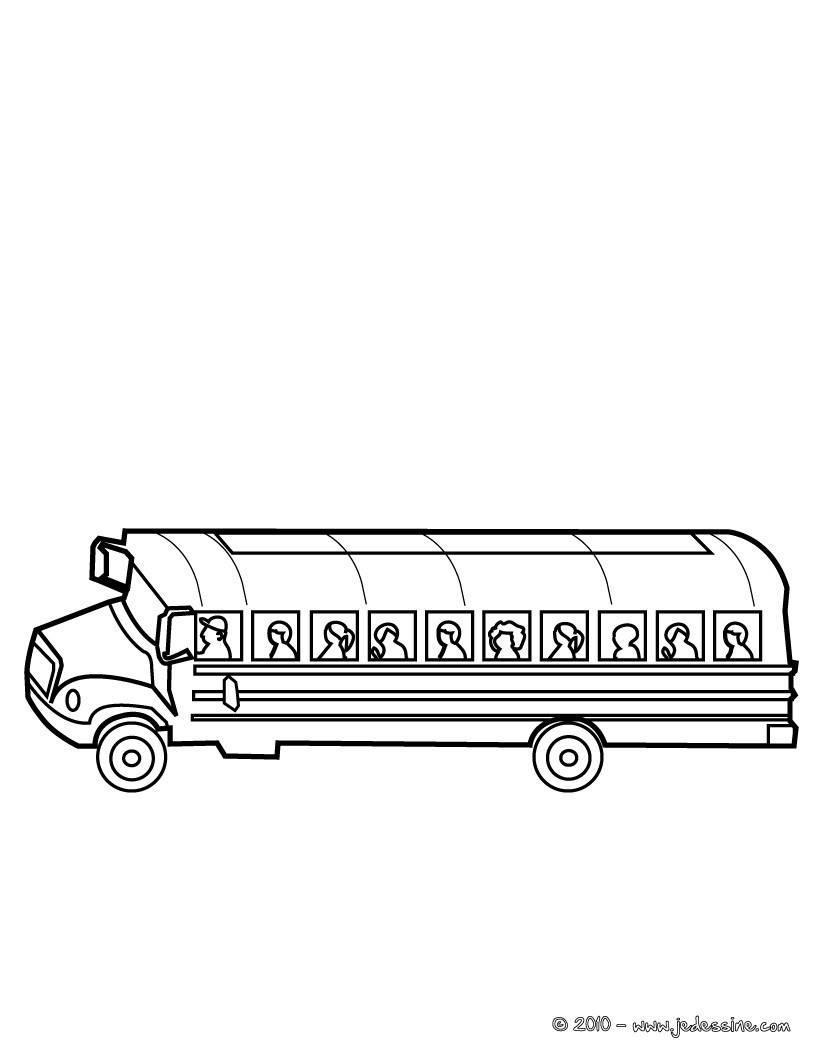 Coloriages coloriage bus de l 39 ecole - Dessin d un bus ...
