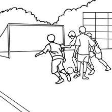 Coloriage de la RECRE - Coloriage - Coloriage GRATUIT - Coloriage RENTREE SCOLAIRE - Coloriage COUR DE RECREATION
