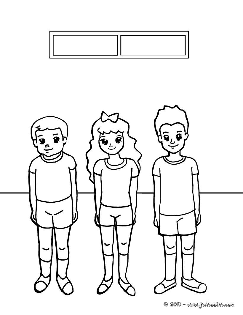 Coloriage Gymnase Ecole.Coloriages Coloriage Du Gymnase Fr Hellokids Com