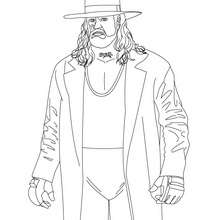 THE UNDERTAKER - Coloriage - Coloriages de CATCH