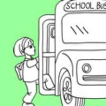 Coloriage BUS SCOLAIRE