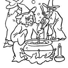 Coloriages coloriage cuisine des sorcieres - Le jeux de la sorciere qui fait peur ...