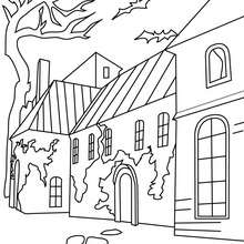 Coloriage Maison HALLOWEEN - Coloriage - Coloriage FETES - Coloriage HALLOWEEN - Coloriage CHATEAU HALLOWEEN