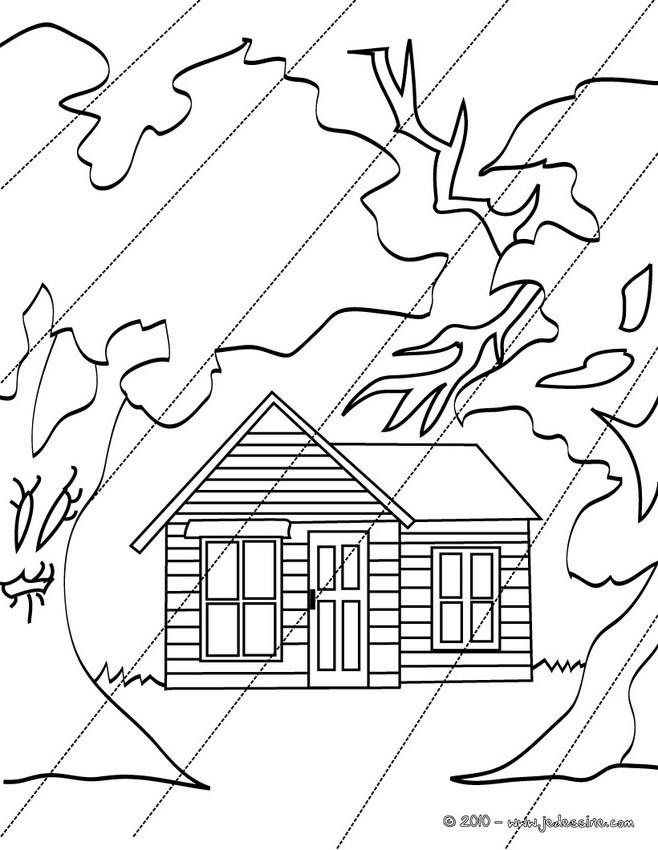 Coloriages petite maison hantee colorier - Dessin de maison hantee ...