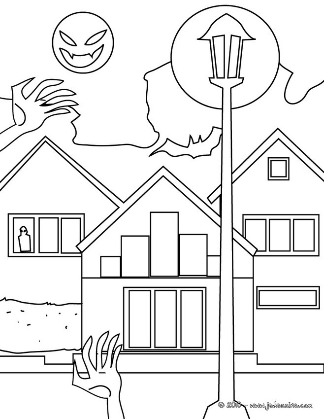 coloriage dhalloween coloriage en ligne maison hantee